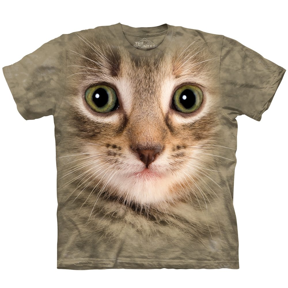 Big Face Tier T Shirt Katze