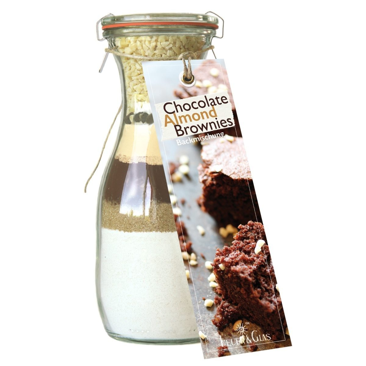 Chocolate-Almond-Brownies – Backmischung im Glas