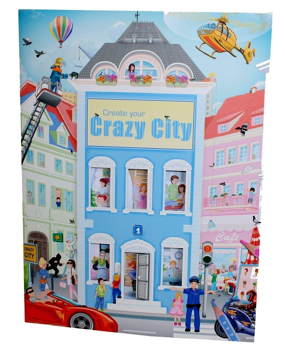 Malbuch Create Your Crazy City, mit Stickern