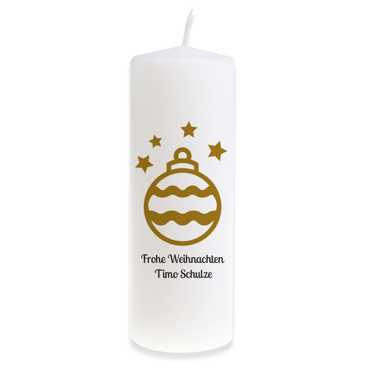 """PERSONALIZED BIG CANDLE """"GOLDEN CHRISTMAS TREE BALL"""""""