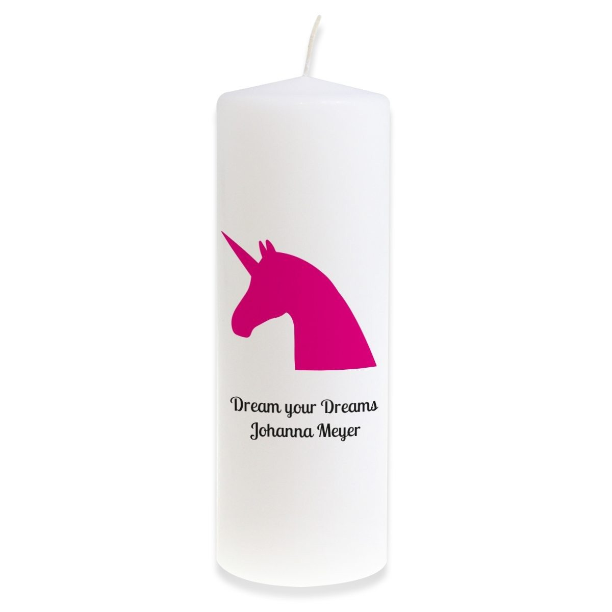 "PERSONALIZED BIG CANDLE ""MAGICAL UNICORN"""