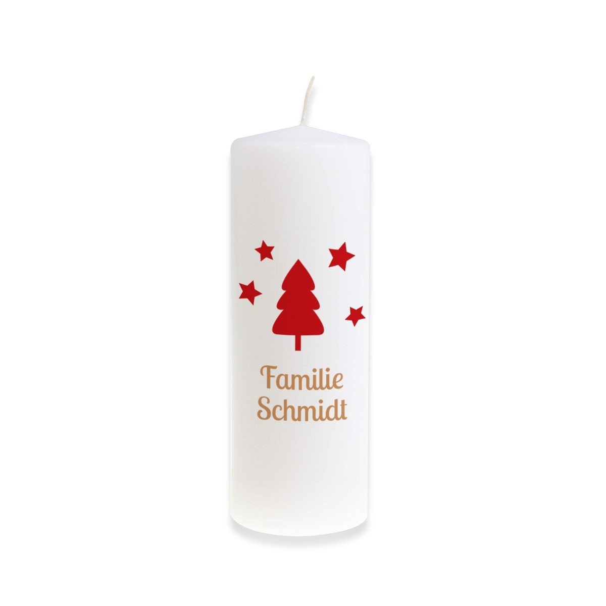 PERSONALIZED TRADITIONAL CHRISTMAS CANDLE