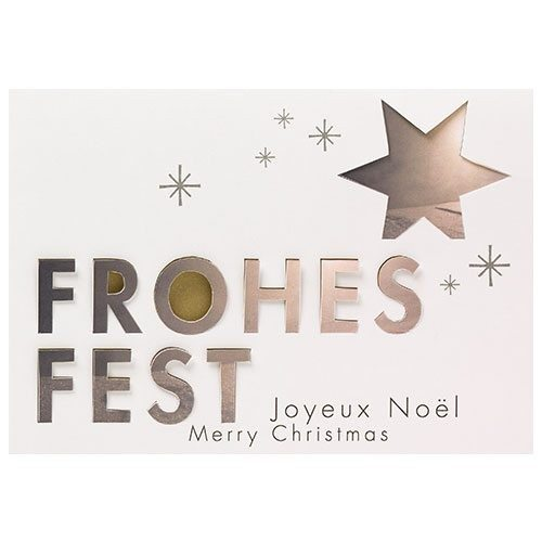 "Pop-Up-Weihnachtskarte ""Frohes Fest"""