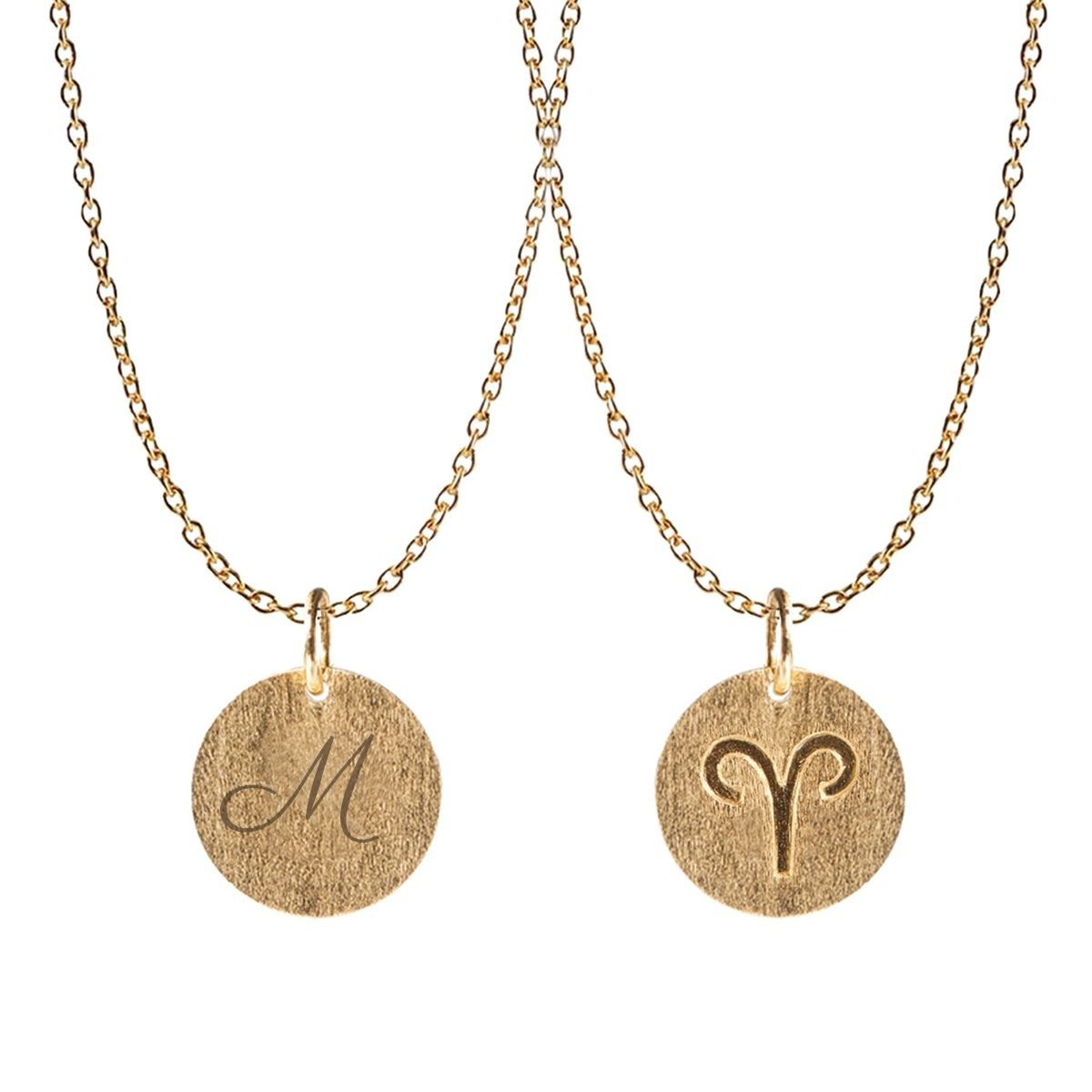 "PERNILLE CORYDON: PERSONALIZED ""SIGNS OF ZODIA"" NECKLACE"