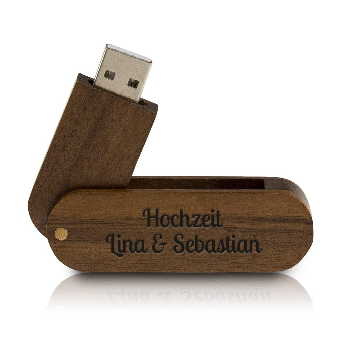usb flashdrive holz mit gravur 4gb. Black Bedroom Furniture Sets. Home Design Ideas