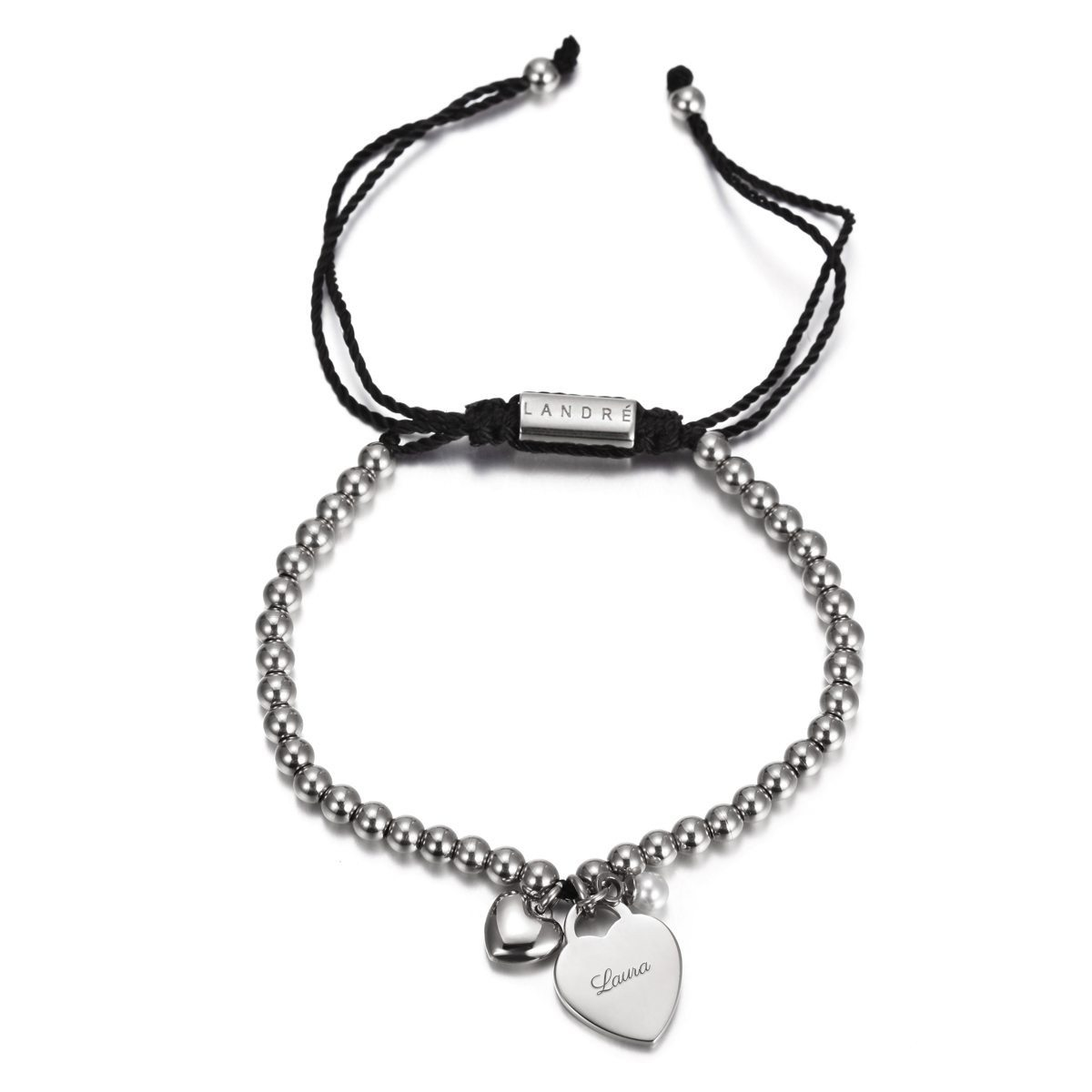 """PERSONALIZED """"CALM"""" BRACELET WITH HEART CHARM Detailansicht"""