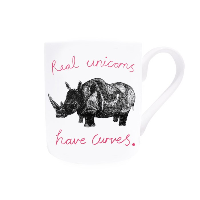 "Witzige Tasse ""Real unicorns"""