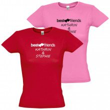 "Damen-T-Shirt ""Best friends"""