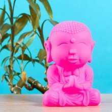 "LED Stimmungslampe ""Buddha"" in Pink"