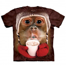Kinder-T-Shirt Big Face Orang-Utan