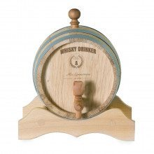 SMALL WOODEN KEG WITH ENGRAVING