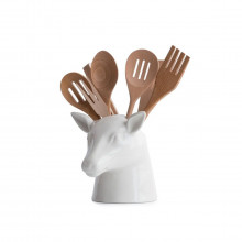 Stag Head Utensil Holder