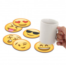 "Untersetzer-Set ""Emoticon"""
