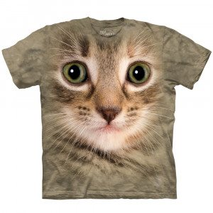 Big-Face Tier-T-Shirt - Katze
