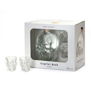 Crystal Head Vodka inkl. Martini Shot Glas