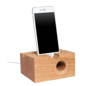 ASSONO plus, IPhone holder and speaker - oak