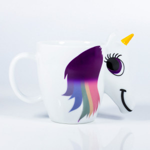 COLOURED UNICORN MUG
