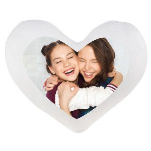 FLUFFY HEART PILLOW WITH PHOTO - COVER