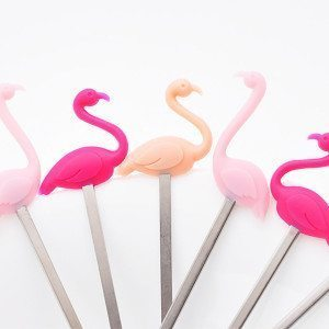 Design Cocktail-Pickser - Flamingo 6er Set