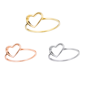 RING PURE HEART 14 KARAT