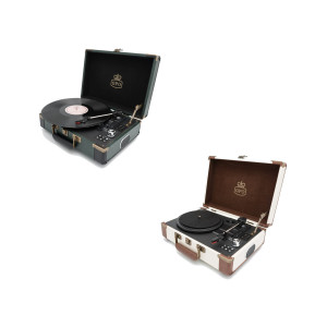 BLUETOOTH SUITCASE RECORD PLAYER WITH BUILT-IN SPEAKERS