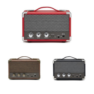 COMPACT RETRO BLUETOOTH SPEAKER BLACK