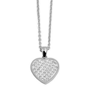 PERSONALIZED HEART NECKLACE WITH CRYSTALS