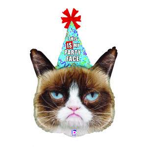 Helium-Luftballon Grumpy Cat Party