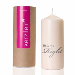 "Hochzeitskerze ""Mr. & Mrs. Right"""