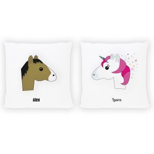 "PERSONALIZED PILLOW ""HORSE & UNICORN"""