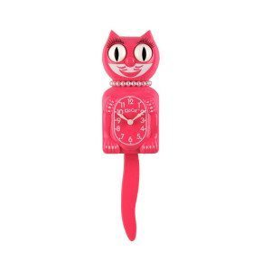 Kit Cat Clock - Die Katzenuhr-Lady - Pink