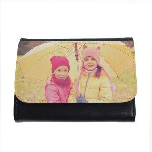 PERSONALIZED FAUX LEATHER WALLET WITH PHOTO PRINT