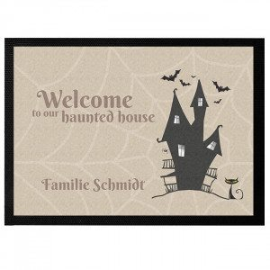 Personalisierbare Fußmatte Haunted House