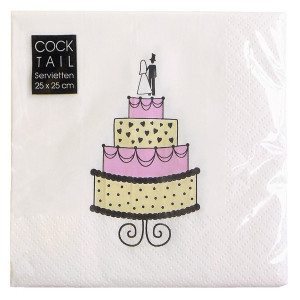 Serviette Wedding Cake