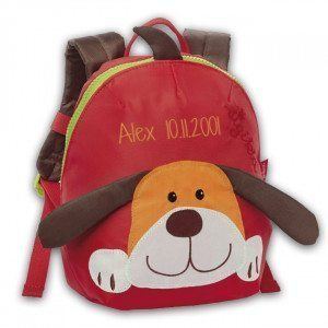 SIGIKID MINI BAG WITH DOG FACE & NAME