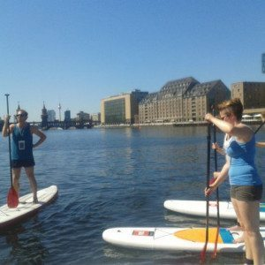 Stand-Up-Paddling-Tour Osthafen Berlin