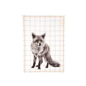 Tea Towel Grid Fox - Arrangement