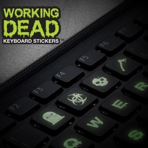 """The Working dead"" - leuchtende Tastatur-Sticker"