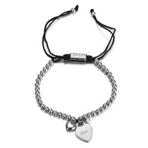 "PERSONALIZED ""CALM"" BRACELET WITH HEART CHARM"