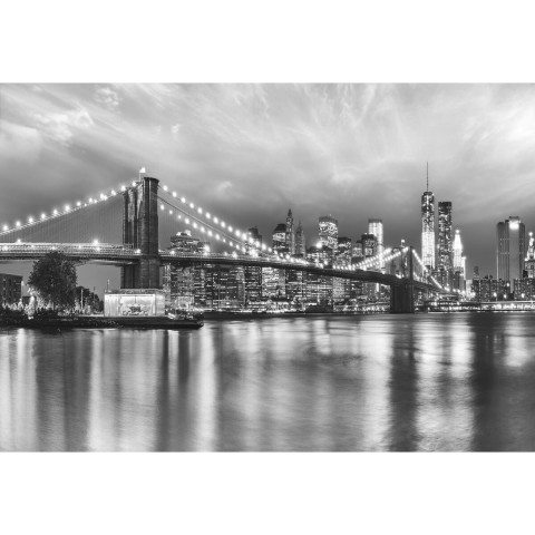 Fototapete Brooklyn Bridge B/W