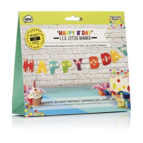 LED Happy Birthday Banner - Verpackung