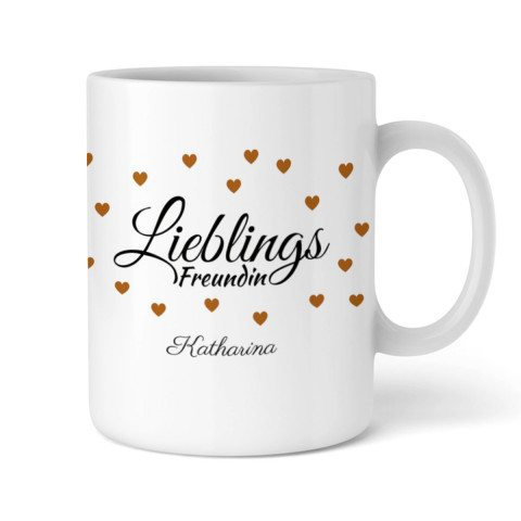 """Personalized Cup """"Lieblings Freundin"""" 2"""
