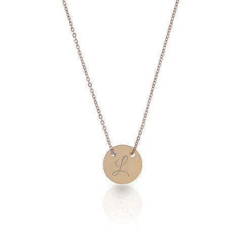 "PERSONALIZED ""GOOD LUCK"" NECKLACE WITH INITIAL"