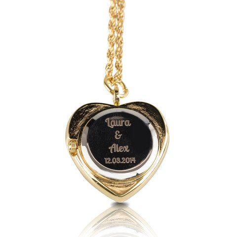 PERSONALIZED NECKLACE HEART COLLIER WATCH - Gravur