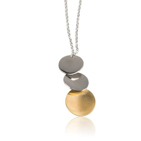 PERSONALIZED NECKLACE WITH THREE PENDANTS
