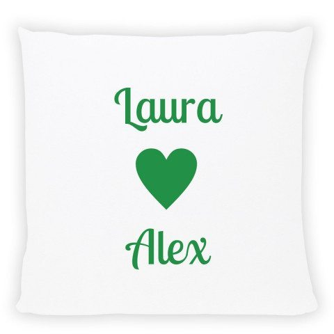 pwesonalised pillow with names green