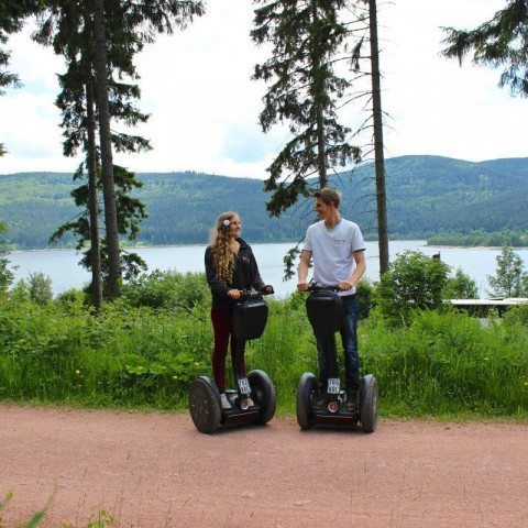 Segway-Panorama-Tour Schluchsee Paar