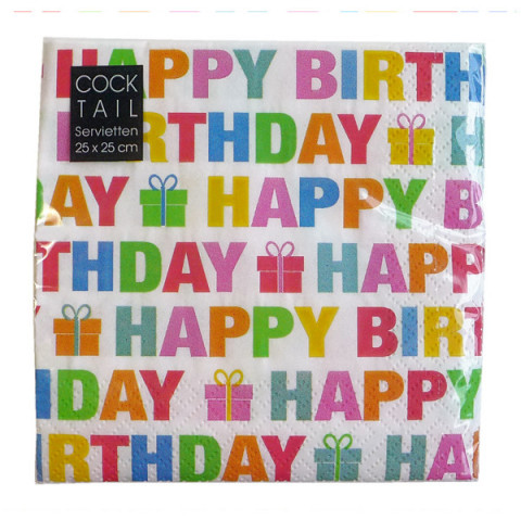 Serviette Happy Birthday