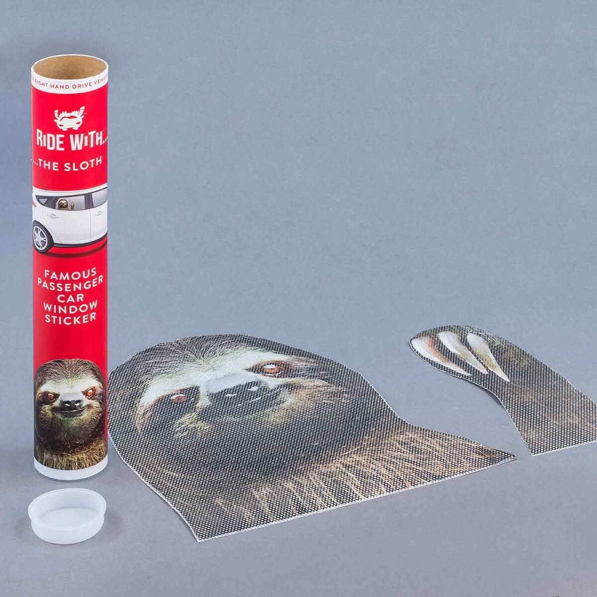 Ride With a Sloth Fenstersticker 'Faultier'