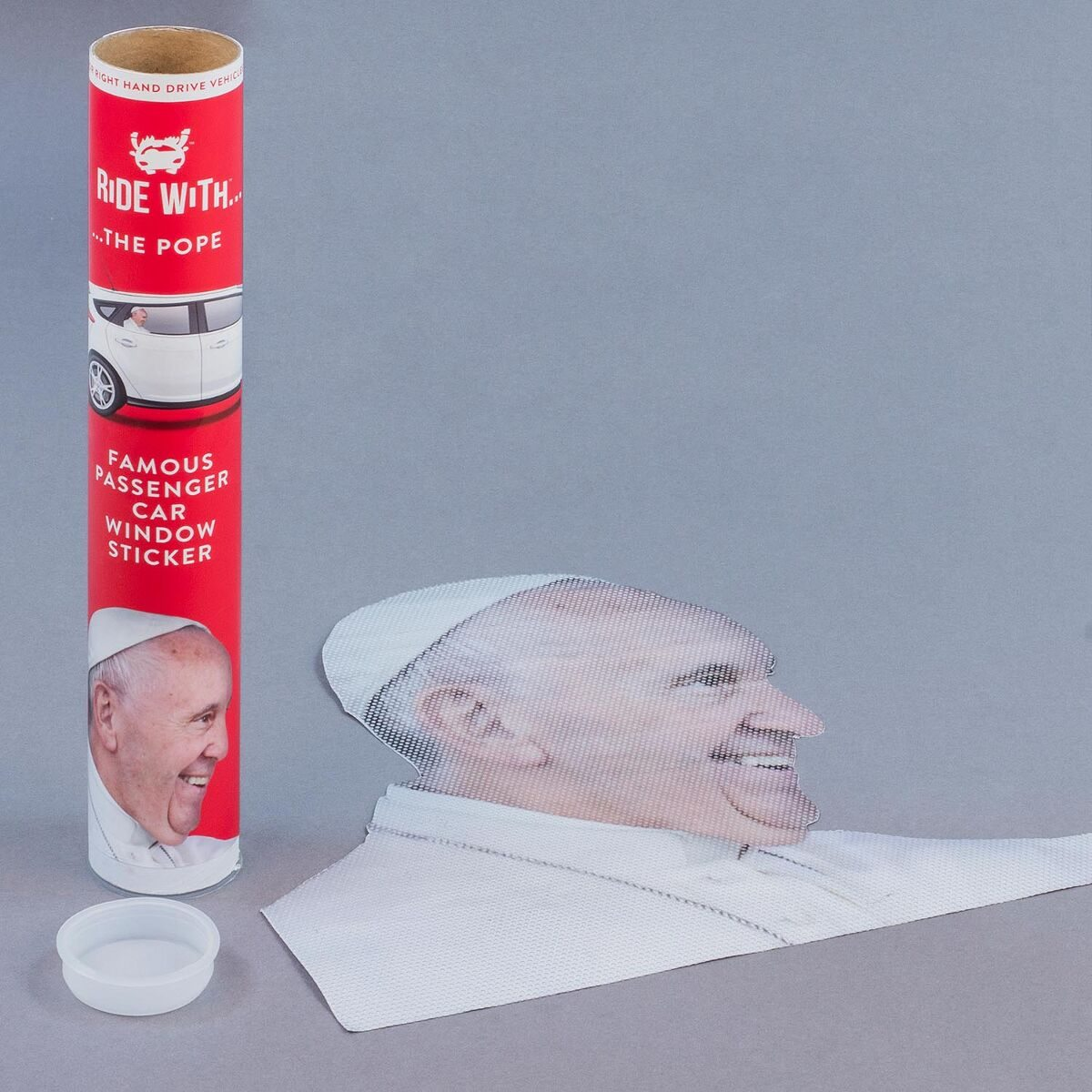 Ride With a The Pope Fenstersticker 'Papst'